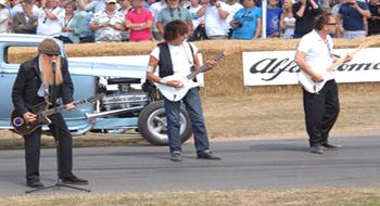 Billy Gibbons Jeff Beck at NHRA