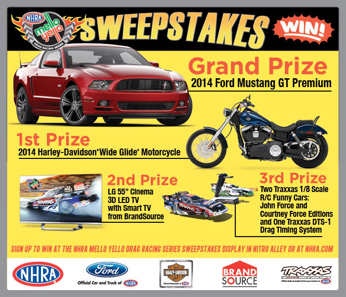 NHRA Nitro Generation Sweepstakes. SIGN UP for YOUR CHANCE TO WIN!